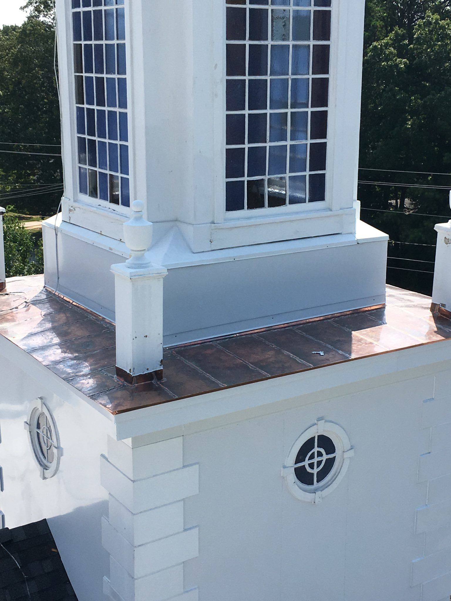 Another church steeple cleaned and repaired!