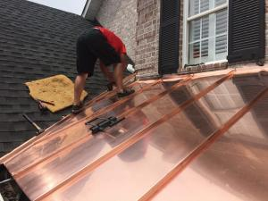 copper roofing accents