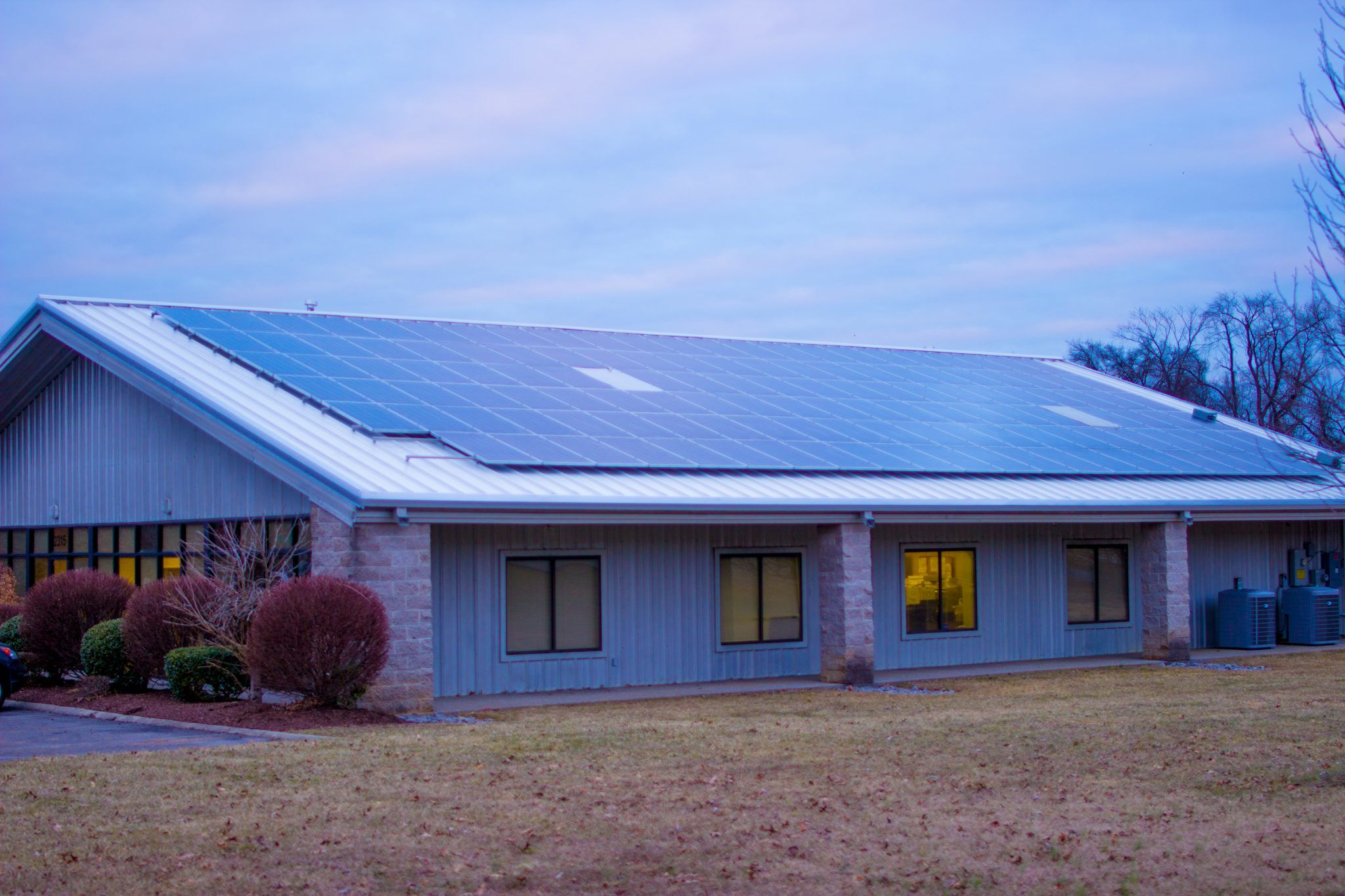 Standing Seam Metal Roof with Solar panels