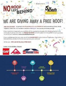 FREE Roof Nominations are OPEN