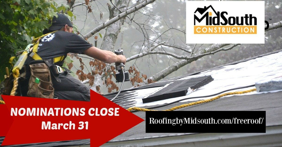 FREE Roof Nominations Close Soon