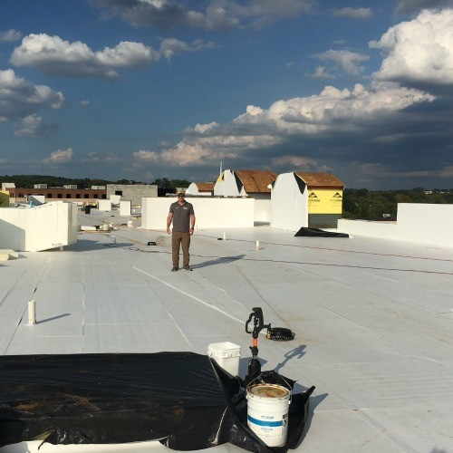 Flat Roof Installation New Construction in Nashville