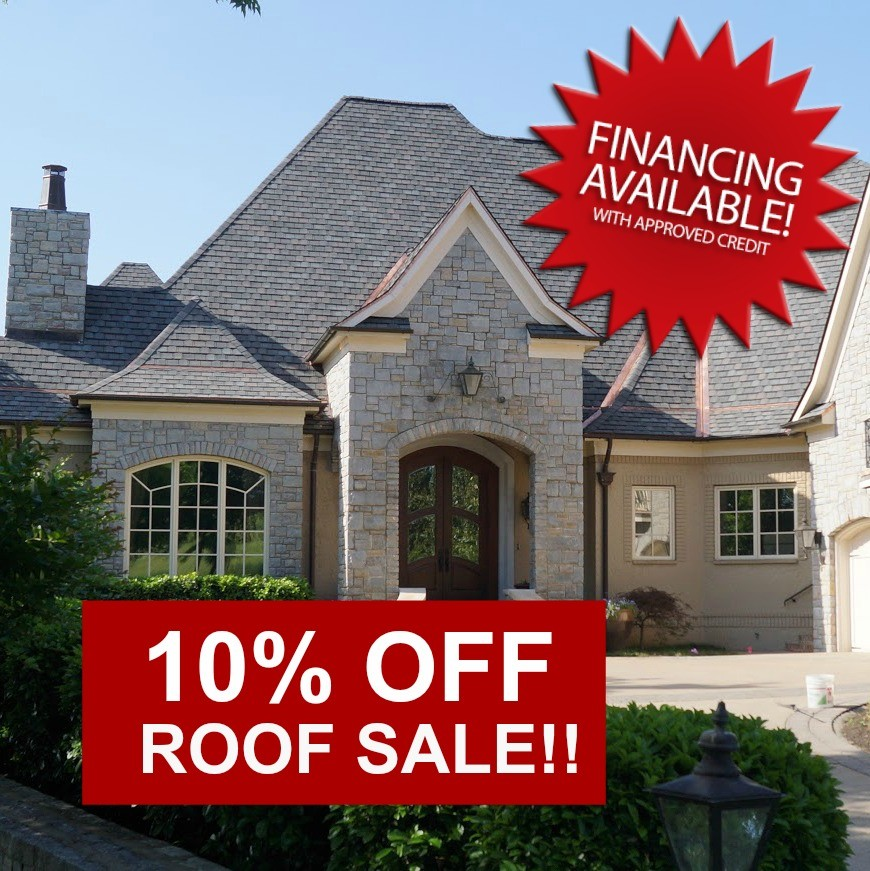 Roof Sale plus affordable financing