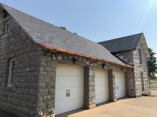 GAF Slateline and Carlisle TPO Roofing Project Completed at National Cemetery